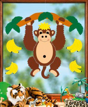 Fensterbild Affe