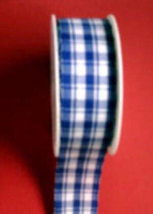 25 mm blau weiß Kariert