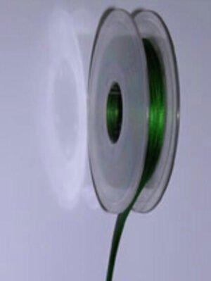 Schleifenband grün mit weißen Punkten 25 mm grün