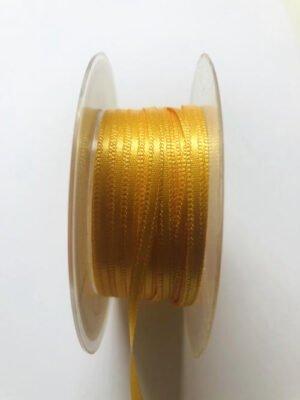 Schleifenband gelb 6 mm